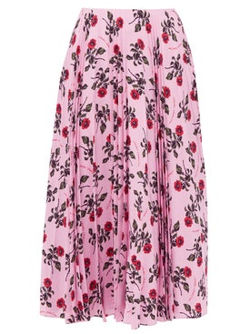 Valentino - Floral Print Mid-length Skirt Pink - Women