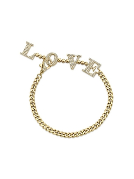 Diamond Baby Link Love Drop Bracelet