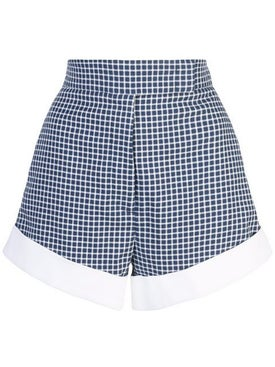 Sara Battaglia - Check Print Shorts - Women