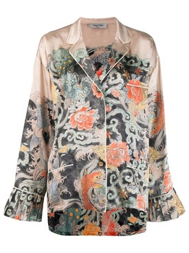 Valentino - Japanese Tattoo Print Pajama Shirt - Women