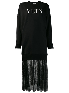 VLTN print sweatshirt dress