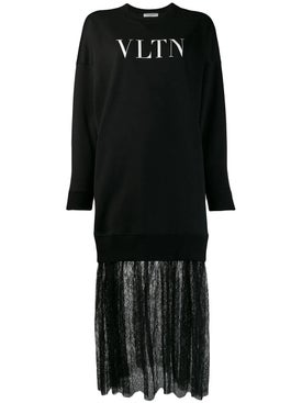 Valentino - Vltn Print Sweatshirt Dress - Women
