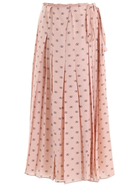 Valentino - Antique Rose Logo Skirt - Women