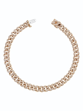 Shay - Rose Gold Mini Pavé Link Bracelet - Women