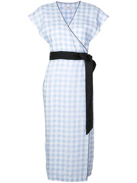 Marysia - Gingham Tie Waist Wrap Dress - Women