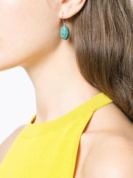Scarab Earrings, Teal