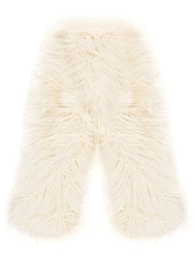 Emma Brewin - White Faux Fur Scarf - Women