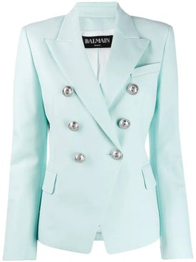 Balmain - Light Turquoise Blazer - Women