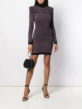 GLITTER LONG SLEEVE HIGH NECK Mini Dress