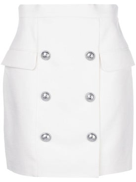 Balmain - White Buttoned Skirt - Women