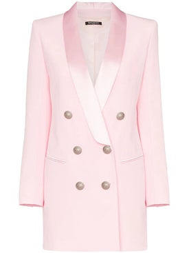 Balmain - Satin Trim Blazer Dress Pink - Women