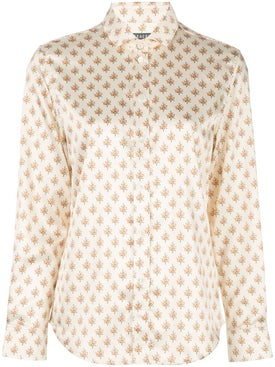 Alexachung - Cream Floral Shirt - Long Sleeved