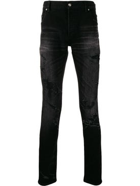 Balmain - Distressed Slim-fit Jeans Black - Men