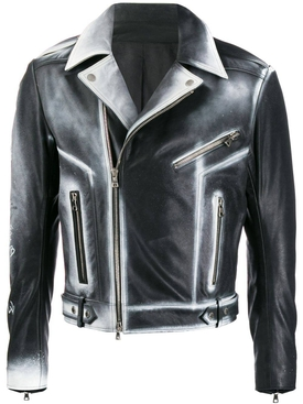 sprayed biker jacket