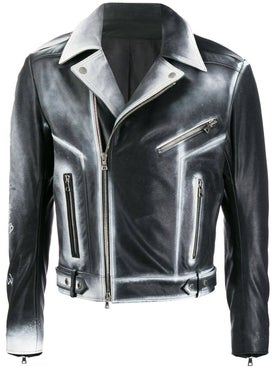Balmain - Sprayed Biker Jacket - Men