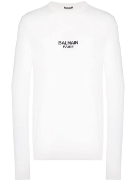 wool logo sweater WHITE