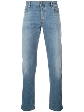 white side band slim-fit jeans