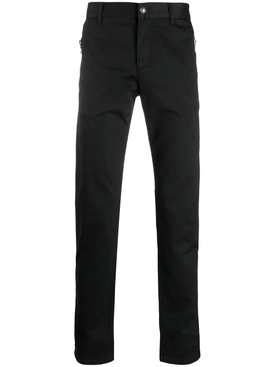 black pocket zip jeans