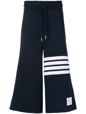 Thom Browne - 4-bar Oversized Cotton Shorts Navy - Men