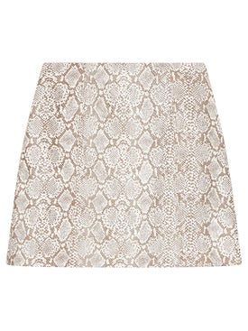Alexachung - Faux Snakeskin Mini Skirt - Women