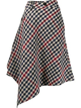 J.w. Anderson - Asymmetric Houndstooth Skirt - Women