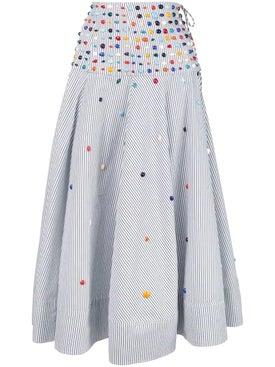 Rosie Assoulin - Beaded Poplin Circle Skirt - Women