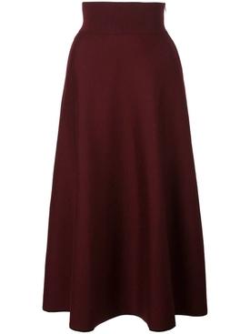 Bordeaux knitted skirt