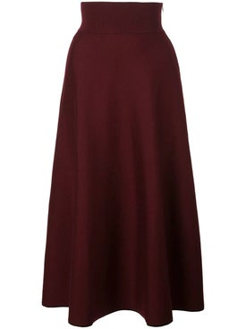 Casasola - Bordeaux Knitted Skirt - Women