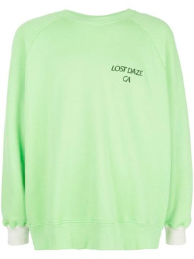 Lost Daze - Green Long Sleeve Crew Neck Sweater - Men