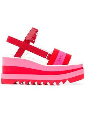 Stella Mccartney - Wedge Logo Sandals - Women