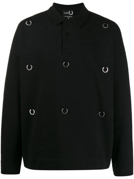 Fred Perry X Raf Simons - Raf Simons X Fred Perry Over-sized Laurel Shirt - Men