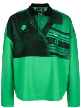 Fred Perry X Raf Simons - Raf Simons X Fred Perry Green Polo Shirt - Men