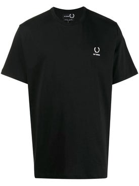 Fred Perry X Raf Simons - Laurel Detail T-shirt Black - Men