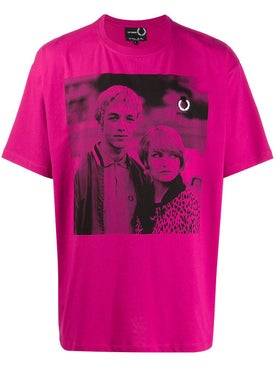 Fred Perry X Raf Simons - Pop Pink Graphic T-shirt - Men