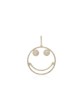 Smiley diamond pendant