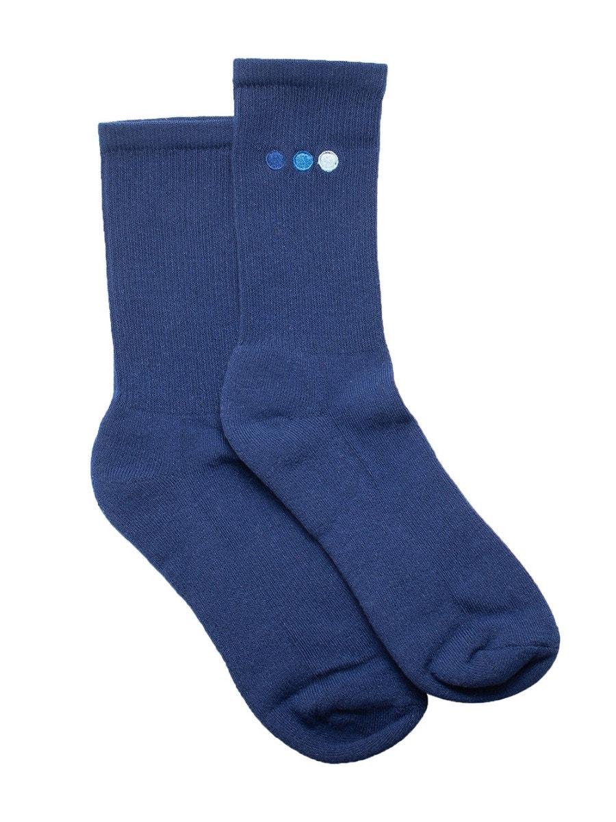 Blu Scarpa Navy High Socks In Blue