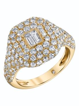Shay - Essential Pavé Diamond Pinky Ring - Women