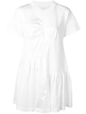 Marques'almeida - Gathered Front T-shirt Dress White - Women