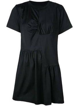 Marques'almeida - Gathered Front T-shirt Dress Black - Women