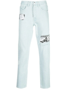 Light Blue Logo Patch Skinny Jeans