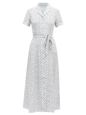 MARIA Belted PAJAMA DRESS, Waves and Sun