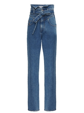Attico - High-waisted Paper Bag Denim Jeans - Women