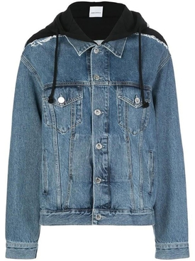 Vetements - Hooded Denim Jacket Blue - Women