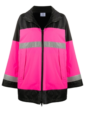 Vetements - Neon Pink Reflector Parka - Women