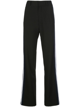 Vetements - Black And Blue Side Stripe Pants - Women