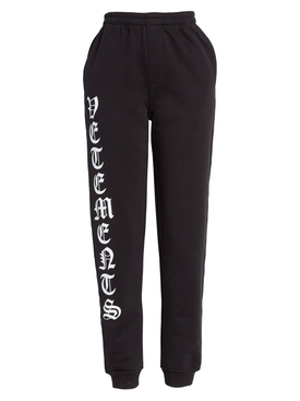 Gothic logo sweatpants BLACK
