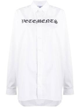 White gothic logo shirt