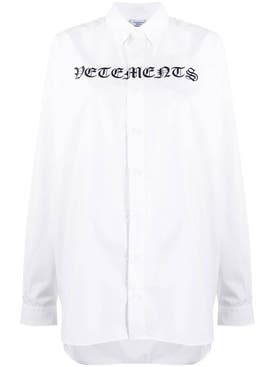 Vetements - White Gothic Logo Shirt - Women