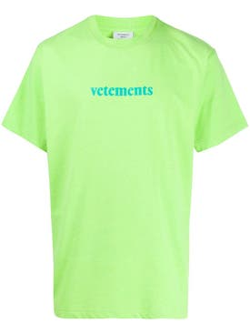 Vetements - Barcode Logo Graphic T-shirt Fluo Green - Women