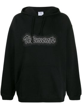 Vetements - Studded Logo Hoodie - Women